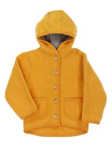 Jerseyfutter Halfen Baby und Kinder Walkjacke mit Kapuze Holzknöpfen Bio-Wolle