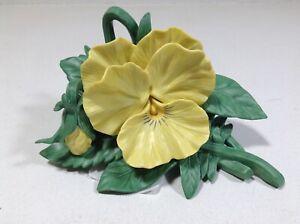 LENOX-YELLOW-PANSY-GARDEN-Flower-sculpture-NEW-in-BOX