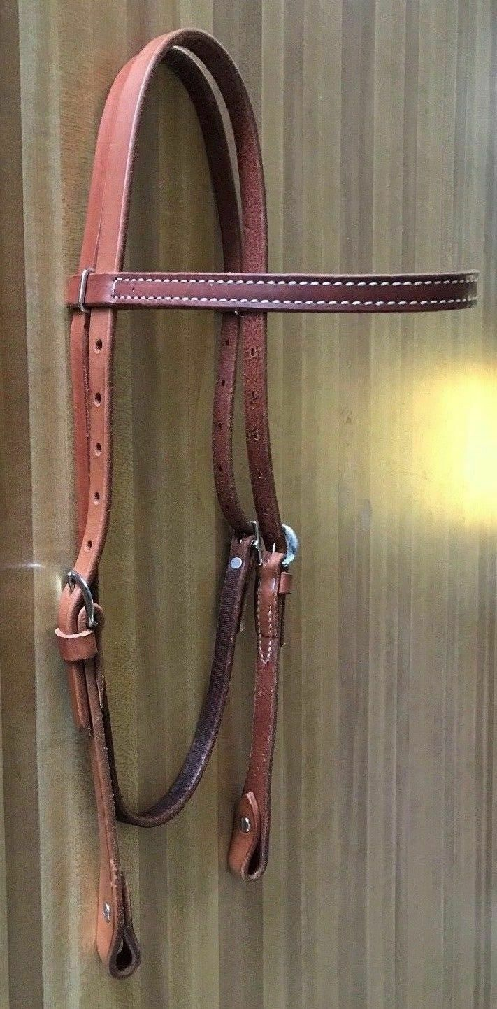 Leather Traditional cavallo Bridle Marronee Tan Trail Pleasure mostrare