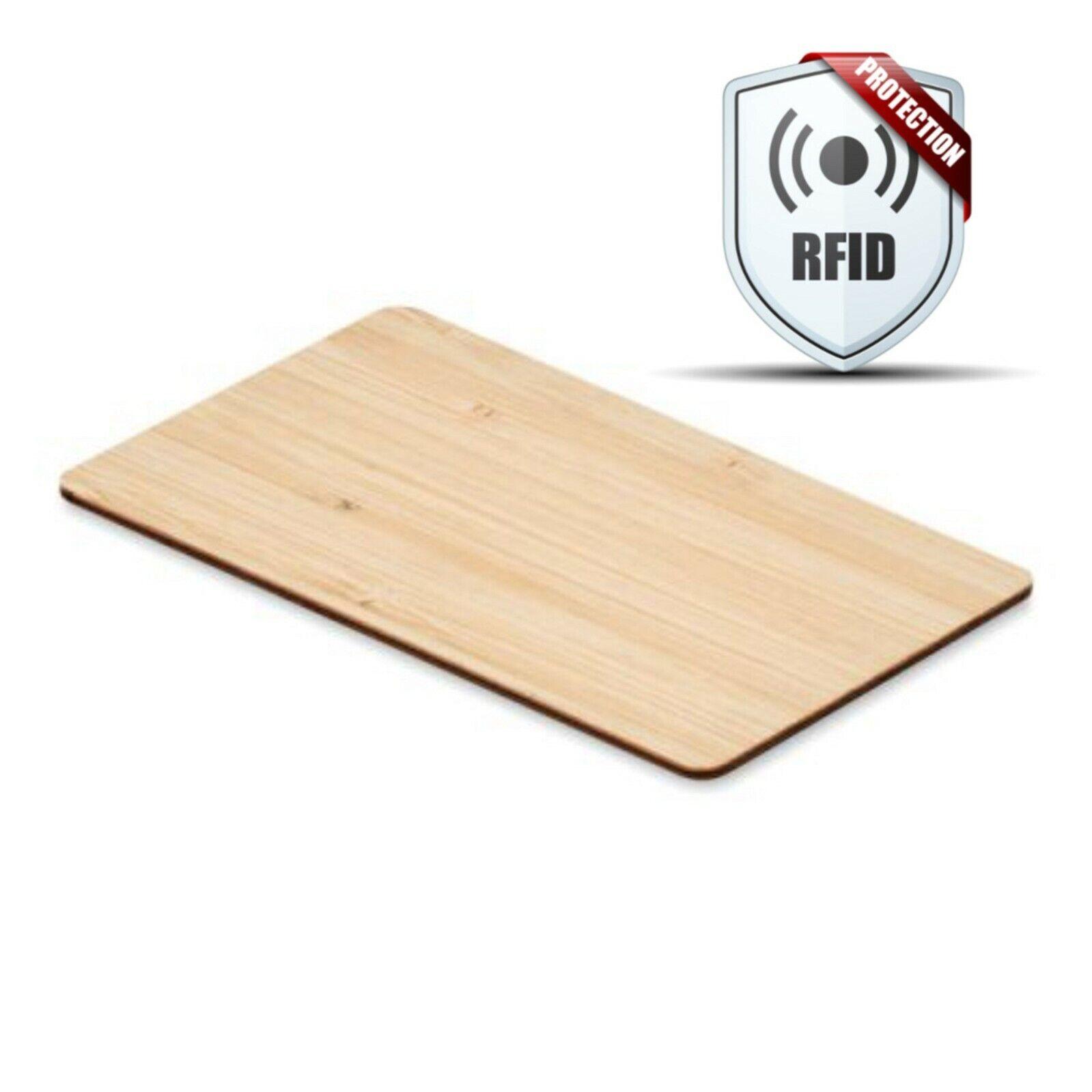 BAMBUS RFID BLOCKER KARTE   Sperrkarte   RFID Schutz   13,56 mHz