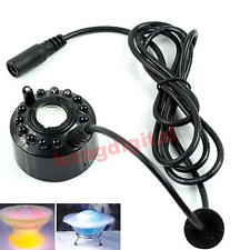 Atomizer Air Humidifier Water Fountain Pond 12-LED Ultrasonic Mist Maker Fogger