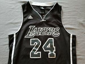 Details about RARE???? Adidas NBA Kobe Bryant Los Angeles Lakers Black White Sewn Jersey Sz M
