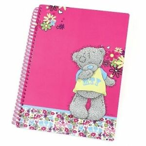 Me To You Tatty Teddy Bear - Pink Spiral Bound A4 Note Pad, Note Book # 0412