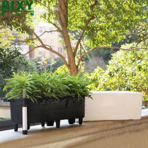 Self Watering Planter Indoor Plants Flowers Herbs Succulents Pot White