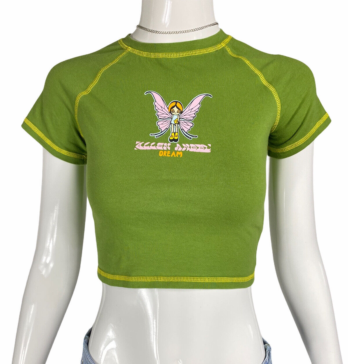Vintage 90s Y2K Style Green Fairycore Grunge Cybe… - image 1