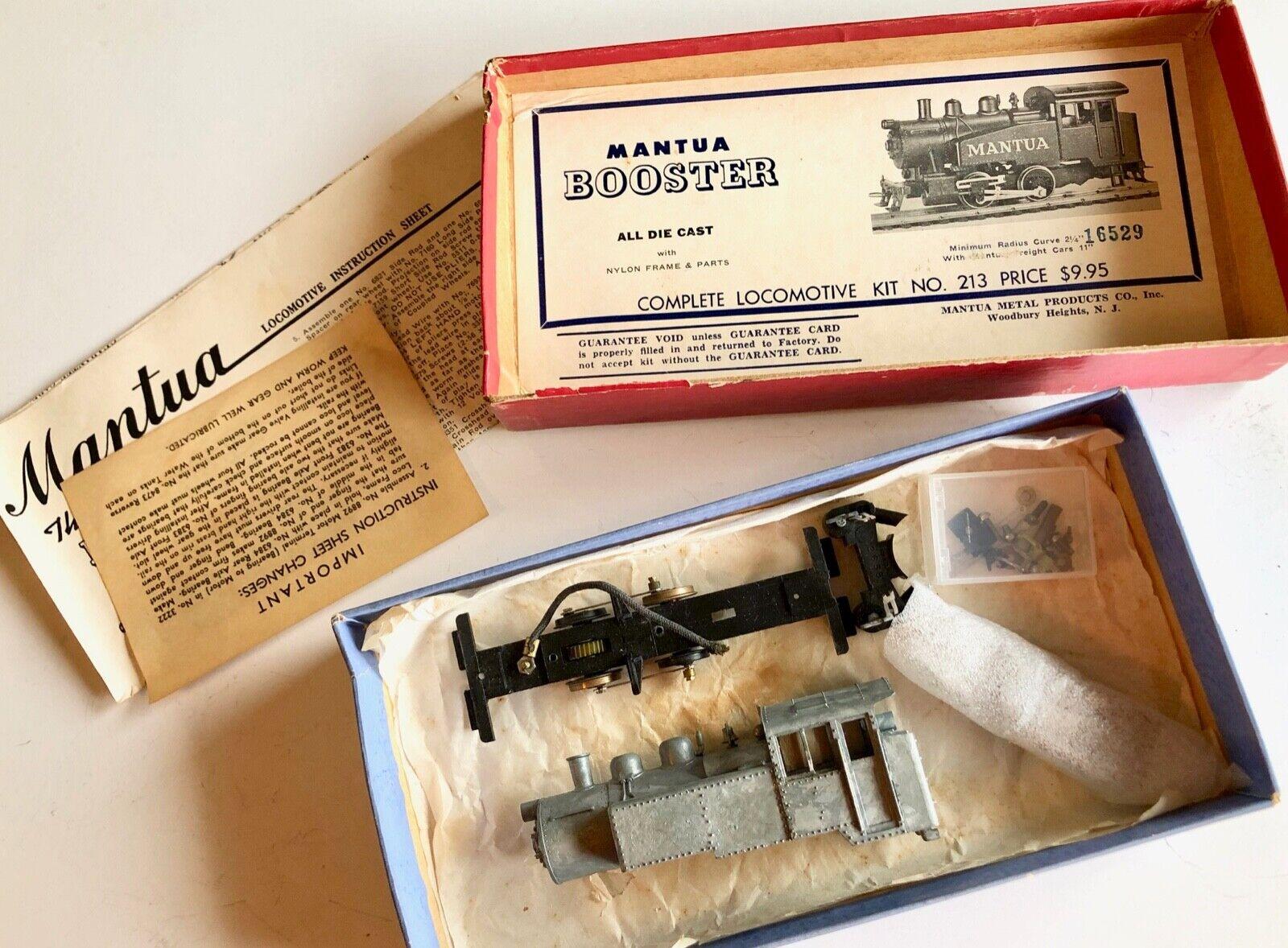Mantua Booster Die Cast Kit No 213 Diesel Loco HO DC Vintage