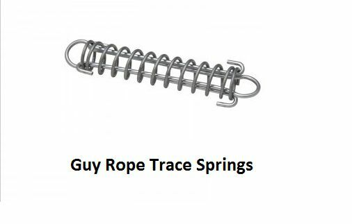 20 X SUPEX 200MM TRACE SPRING GUY ROPE ACCESSORY CAMPING TARP POLES 38D