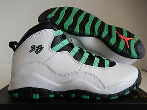 86c3dbccbccaa5 NIKE AIR JORDAN 10 RETRO 30TH GG WHITE-VERDE SZ 8Y-WOMENS SZ 9.5 ...