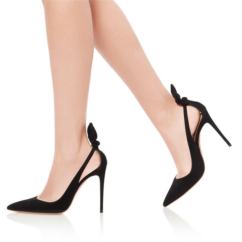 spedizione e scambi gratuiti. donna Bows High Heels Ankle Strap Pointed Pointed Pointed Toe Pumps Stiletto Sandals Party scarpe  fantastica qualità