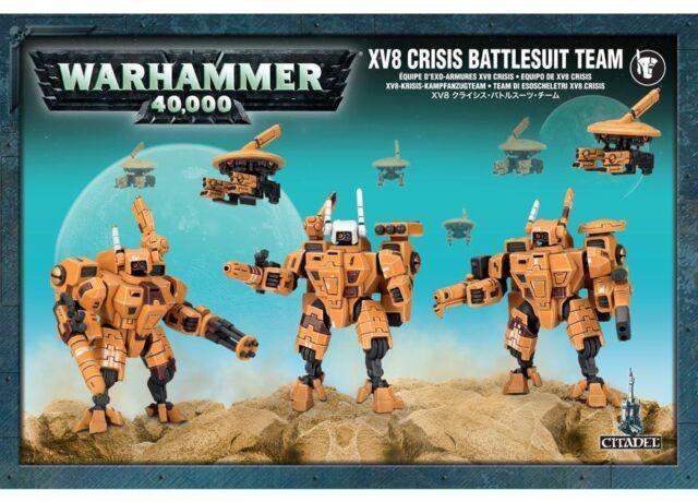 Equipe d'Exo-Armures TAU XV8 Crisis / XV8 CRISIS BATTLESUIT TEAM - WARHAMMER 40k
