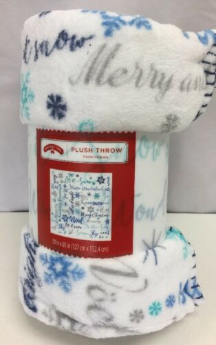 Plush Throw Blanket Holiday Snowflake//Fonts Design Great Gift For Christmas,New