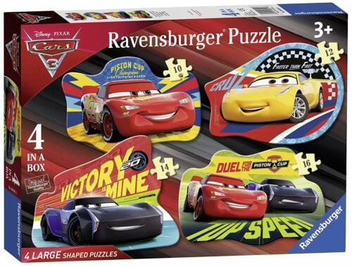 Ravensburger PIXAR CARS 3 4 Large en Forme de Scie Sauteuse 10,12,14,16pc