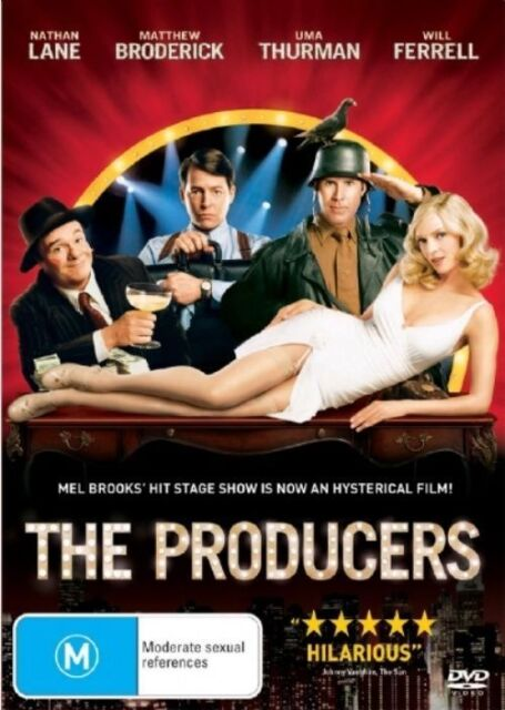 THE PRODUCERS (DVD, 2006) LIKE NEW - NATHAN LANE, MATTHEW RODERICK, UMA THURMAN,