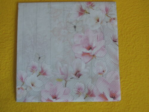 5 Servietten Magnolien Serviettentechnik Motivservietten1//4 Magnolia garden blum