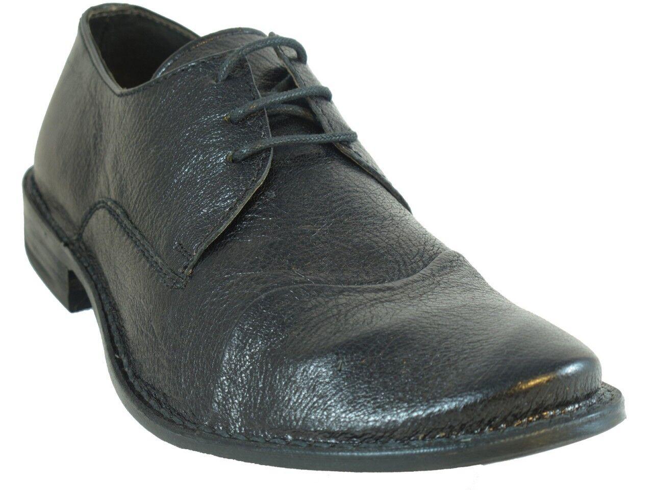 Men's Italian Davinci Informal Cuero Con Cordones Zapatos 8129