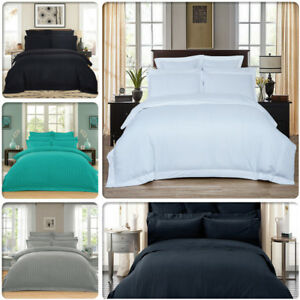 Striped-1000TC-Luxury-Duvet-Doona-Quilt-Cover-Set-Queen-King-Super-King-Size-Bed