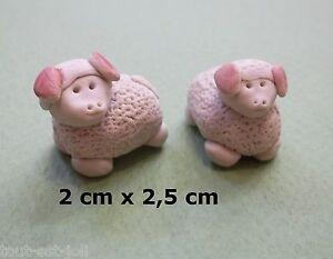 figurines crèche 2 moutons-mini vitrine- collection- mouton-schaap- T4 zw4L6NbW-08030526-969963376