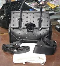 d29f1a08fa Authentic Versace City Stud Palazzo Empire Black Leather Handbag With Tags