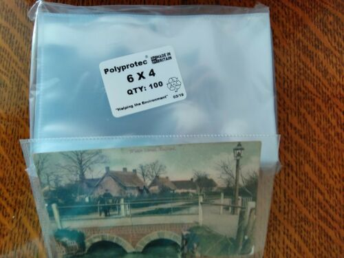 "2500 Polyprotec 6/"" x 4/"" Thick Sleeves for Vintage Postcards Photographs Storage"