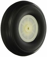 3pcs Rc Airplane Spare Parts Nylon Hub Pu Spoke Wheel Tire 4.5 X 1.4, New, Fre on sale