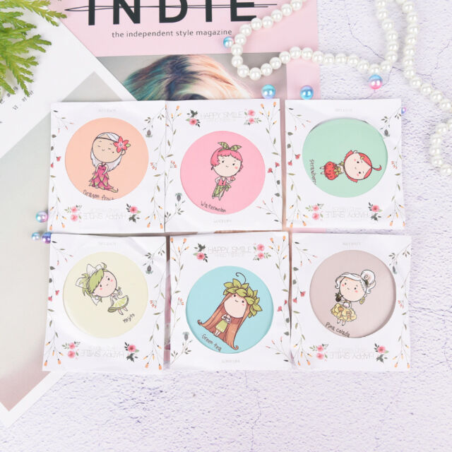 1PC Lady Girl Cute Mini Makeup Cosmetic Portable Pocket Mirror Random Color_CH