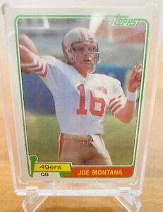 Topps 1981 Joe Montana San Francisco 49ers RC Rookie #216 Football Card HOF Goat