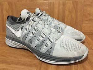 RARE RARE RARE  Nike Flyknit Lunar2 Pure Platinum Wolf Gray Weiß Striped Sz 7111e0