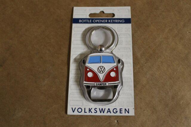 VW Camper Key Ring Official Volkswagen Splitscreen Metal Keyring Bottle Opener