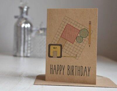 Kraft Personalised Builder Architect Surveyor Birthday Card
