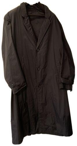 Commes des Garçons HOMME Black Midi Nylon Raincoat