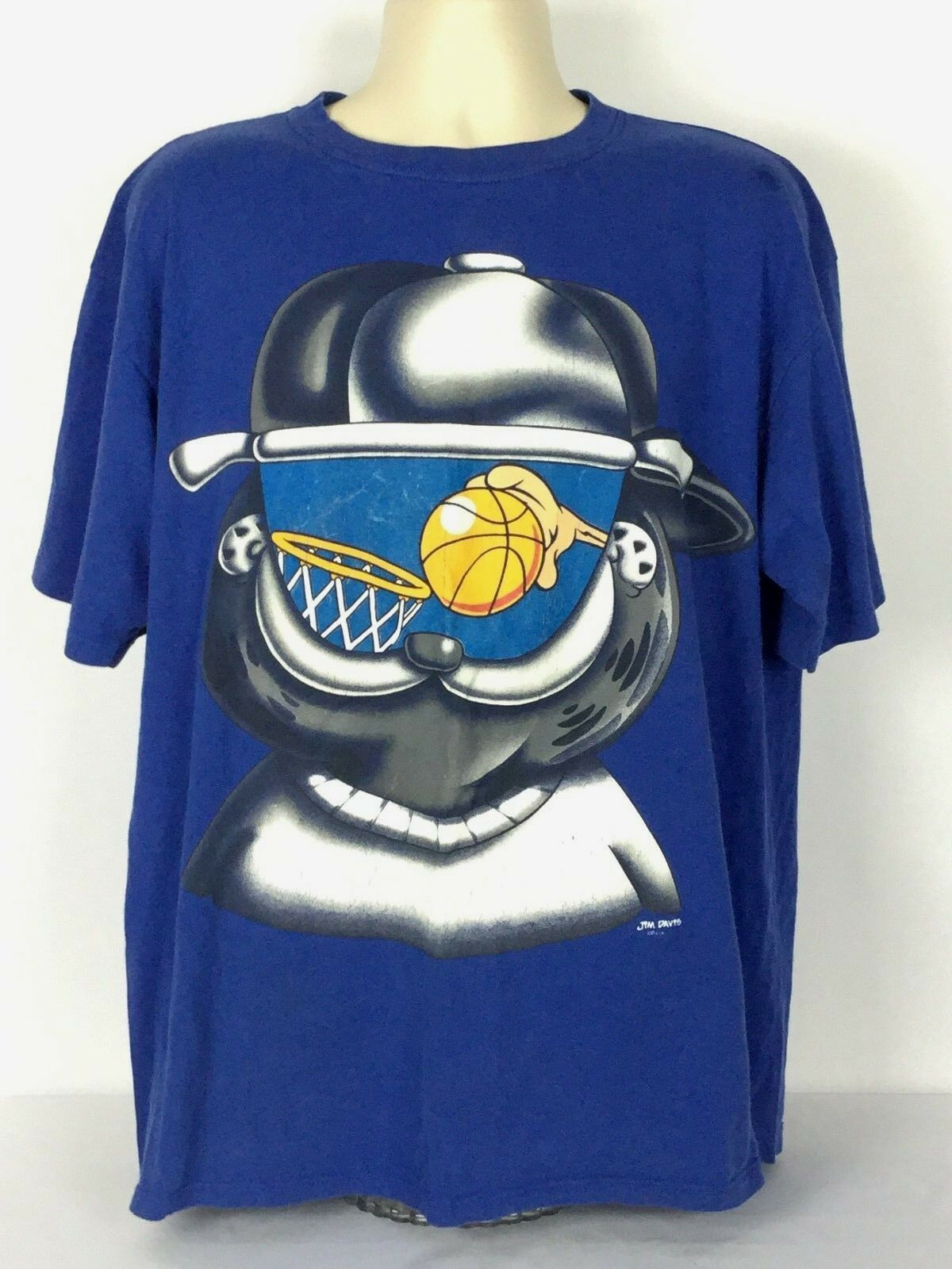 Sun Garfield Vintage XL Basketball Game TV Graphic Tee T-Shirt Jim Davis