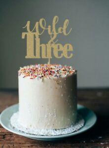 Amazing 3Rd Birthday Wild Three Cake Topper Boy Girl First Birthday Birthday Cards Printable Trancafe Filternl