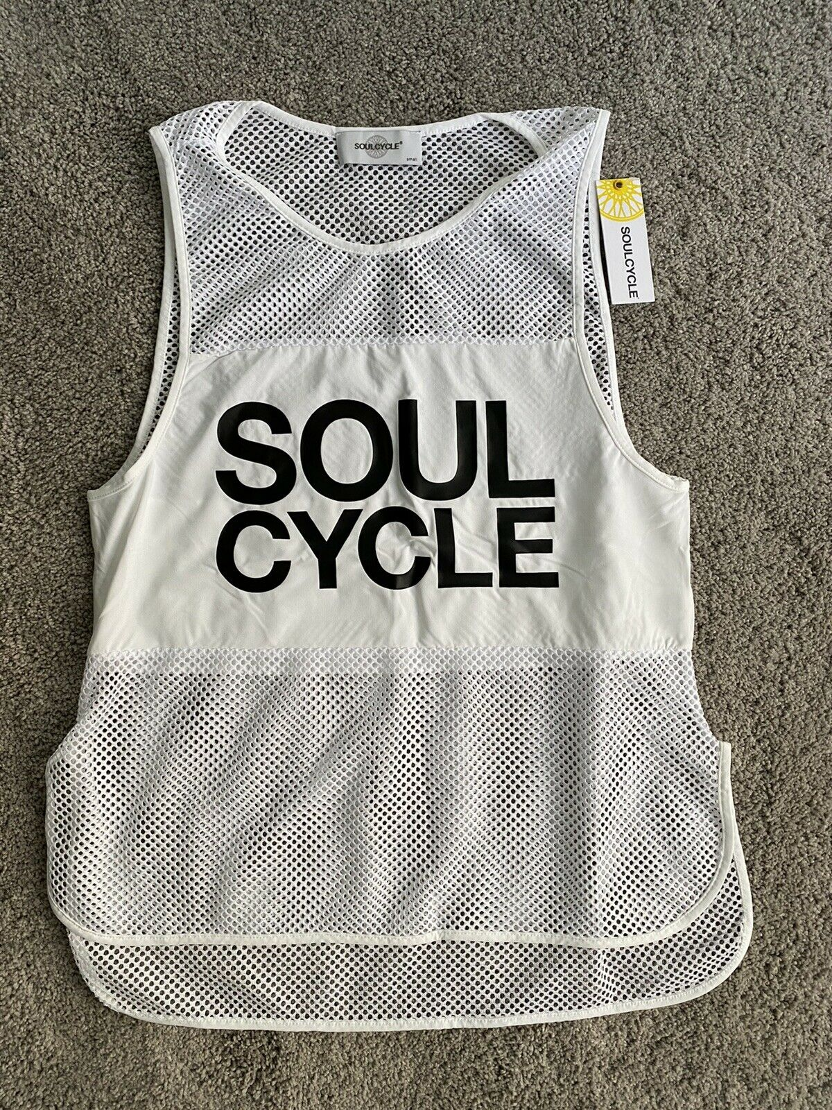 Soulcycle Ella Vest Tank Top White Size Small NWT