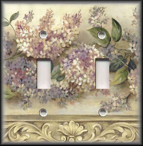 Light switch plate cover lilac tan lilacs flowers for Victorian decor store