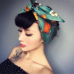 Eg-Vintage-Donna-Yoga-a-Fiori-Annodato-Fascia-Capelli-Turbante-Nice