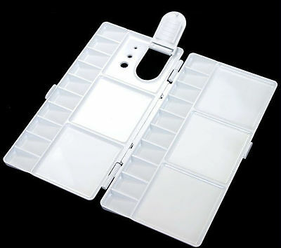 Art Alternatives Paint Tray Palette 25 Wells with Thumb Hole Folding Palette M