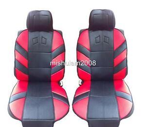 2x Rot Schwarz Sitzauflage Polyester Sport für Ford Mercedes Benz Opel Nissan VW
