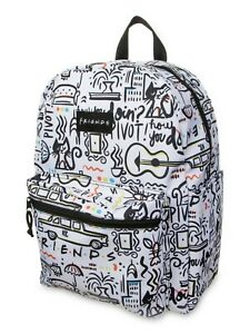 Friends-F-R-I-E-N-D-S-Comic-Printed-16-034-Backpack-90-039-s-TV-Show-Central-Perk-NWT