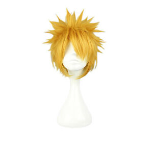 Wig Cap High Standard In Quality And Hygiene Hair Extensions & Wigs Golden Blonde Short 30cm Anime Cosplay Fancy Party Full Wig
