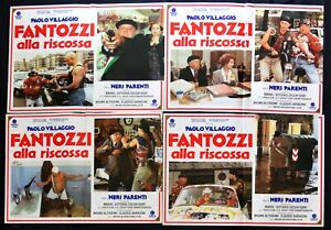 Fotobusta Fantozzi Die Rettung Paolo Dorf Schwarz Verwandten Top-Notch Sar R186