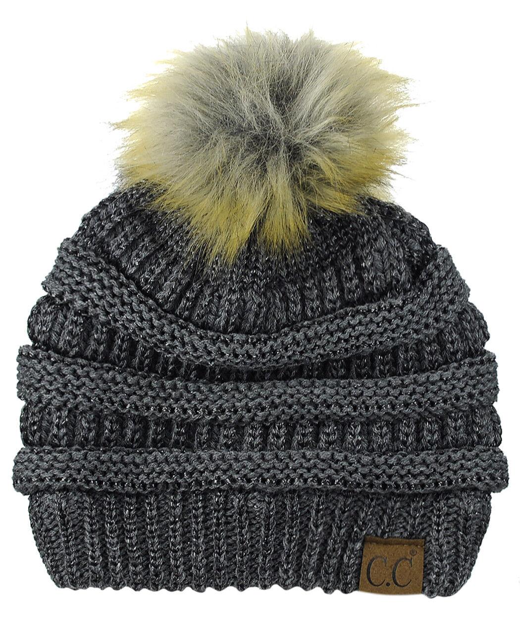 Neu    cc Brand Exklusiv Softstretch Zopfmuster Kunstpelz Bommel cc Mütze | Online Outlet Store  | Creative  | Mittel Preis  853994