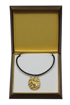 100% QualitäT Cairn Terrier - Vergoldet Halskette Mit Einem Hund In Einer Box Art Dog De Schrumpffrei