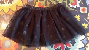 The Childrens Place Baby Toddler Girls Black Tulle Star Skirt Costume 3 3T NWT