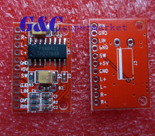 5PCS 2 Channels 3W Digital power PAM8403 Class D Audio Amplifier Board USB 5V