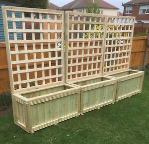 Wooden Planters And Trellis Hot Tub Screen Local Del Or Postage