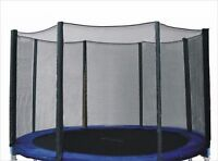 14' TRAMPOLINE ENCLOSURE SAFETY NET MESH for a Pro Jump with 4 Arches 8 Poles WP