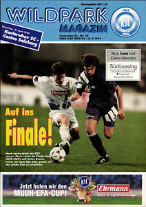 UEFA - EC III 93/94 Karlsruher SC - Casino Salzburg, 12.04.1994, Semi Final