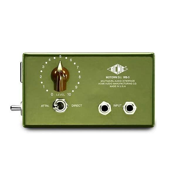 Acme Audio Motown DI WB-3 Direct Box - Brand New w Warranty   Atlas Pro Audio