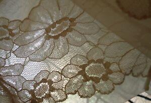 717149b4e6b NOS vTG Vanity Fair 36 L Cream Silky Nylon Full Slip Chiffon Lace ...