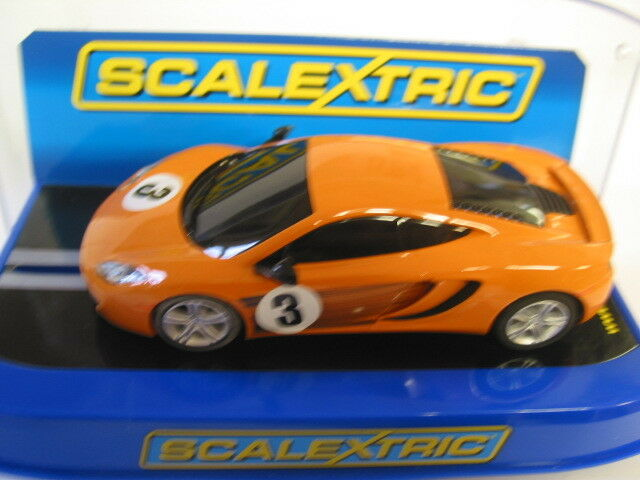 SCALEXTRIC MCLAREN MP412c orange set car (PITSTOP CHALLENE) digital  PLAIN BOX